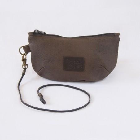 Brown Daisy purse