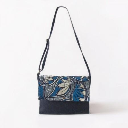 Messenger bag Azul/Blanco