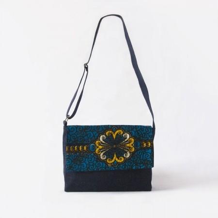 Messenger bag Blau/Groc