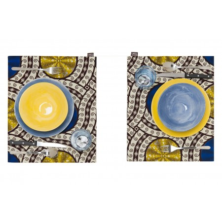 Individual Placemat Golden Blue