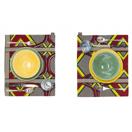 Individual Placemat Yellow Red