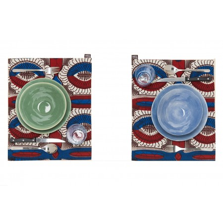 Individual Placemat Blue-Red