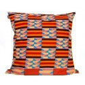 Anna Cushion Cover Yellow-Red-Brown Squares