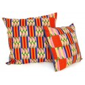 Squared Denim Cushion Cover Yellow-Red-Blue