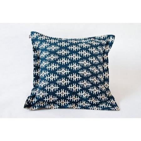 Square cushion cover path marker ecru wool