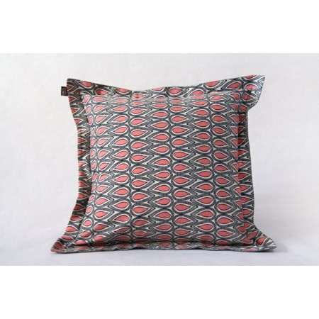 Square cushion cover pomplemousse grey wool