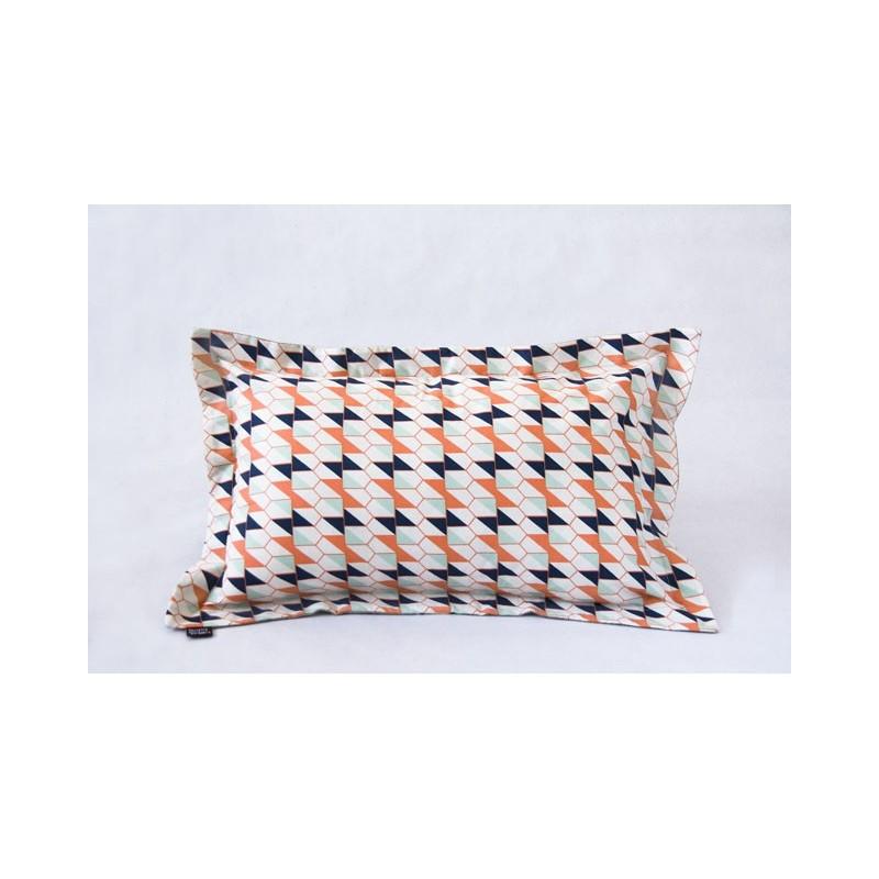 Rectangular cushion cover indicate ecru wool