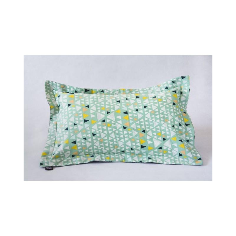 Rectangular cushion cover mojave grey wool
