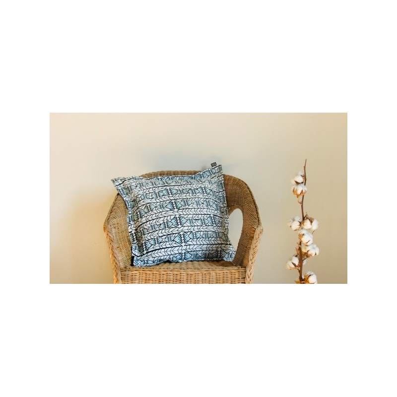 Square cushion cover dreams grey wool