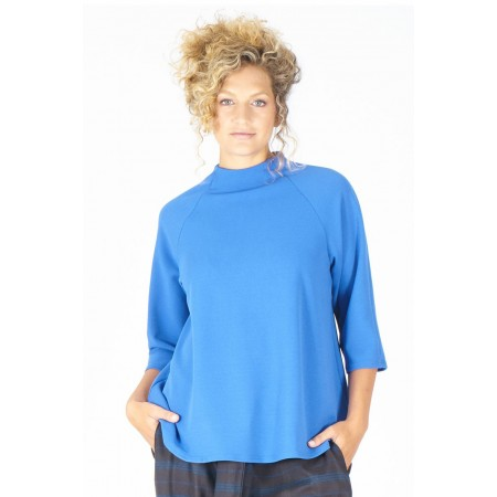 Blue knit sweater Tania