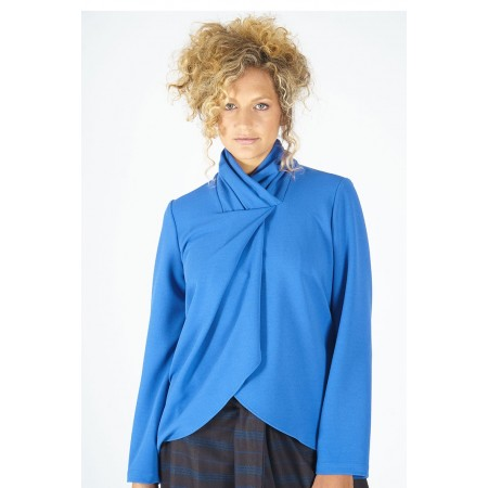 Blue knit blouse Tortola