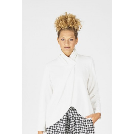 White knit blouse Tortola