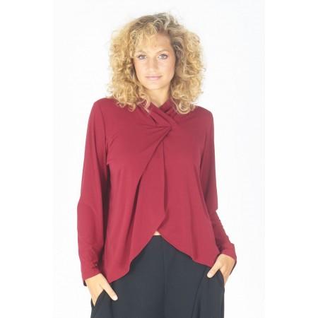 Garnet knit blouse Tortola