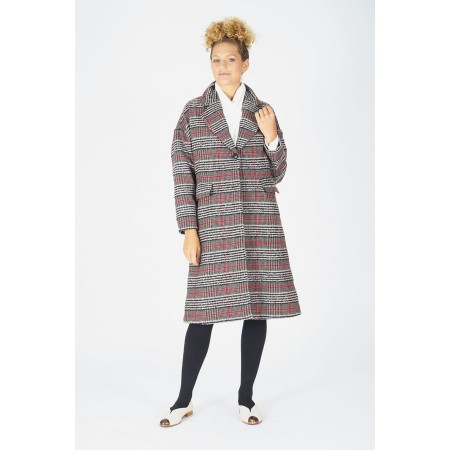 Squared coat Hipatia