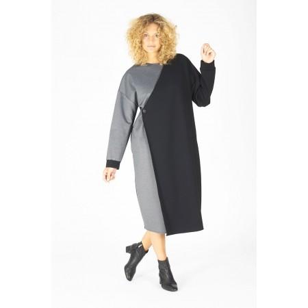 Vestido gris y negro Franklin