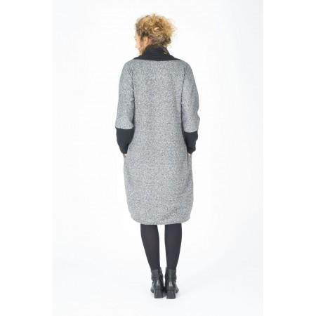 Jersey vestido de punto gris Talla única estilo oversize manga larga 914f4d78cf1