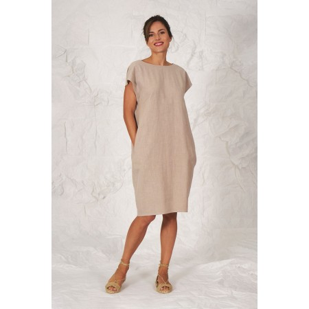 Beige linen dress Berthe.
