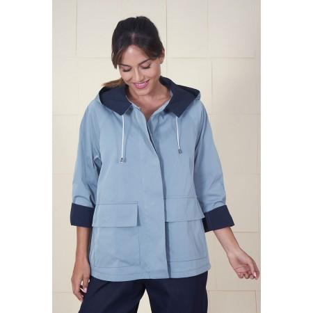 Blue trench coat Lempicka