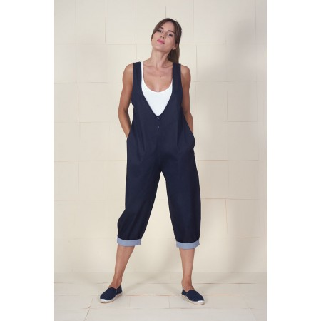 Blue denim overall Remedios