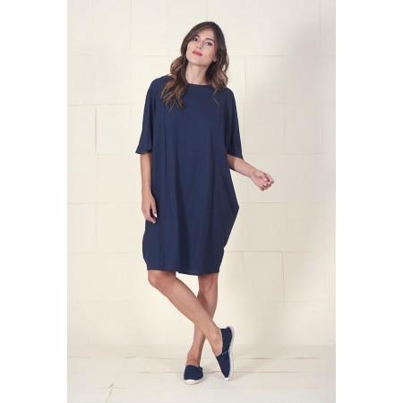 Navy Blue Dress Maruja