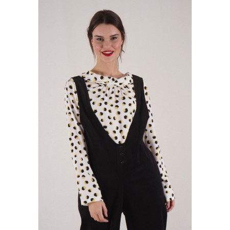 Black and Yellow Polka Dots...