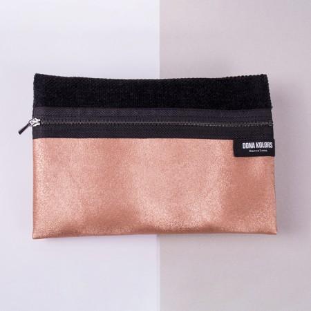 Neceser cobre de tapicería y polipiel