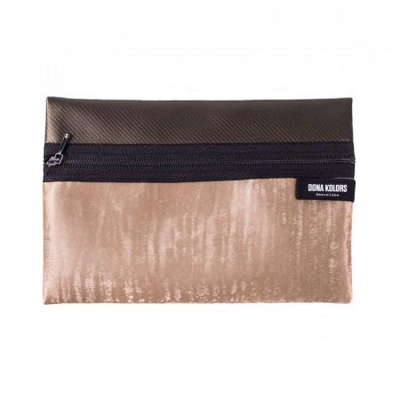 Necesser rectangular en tons daurats Dona Kolors