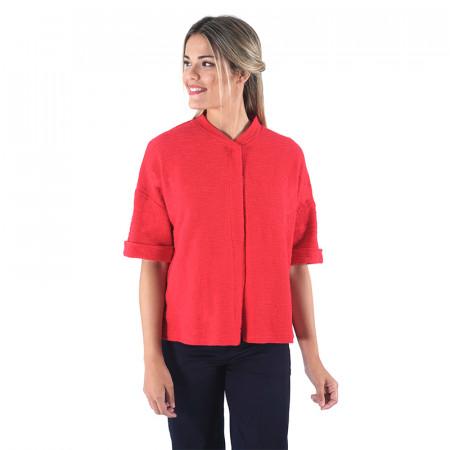 Chaqueta roja de algodón rústico Dona Kolors