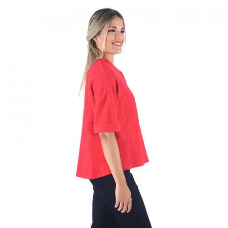 Red rustic cotton jacket Dona Kolors