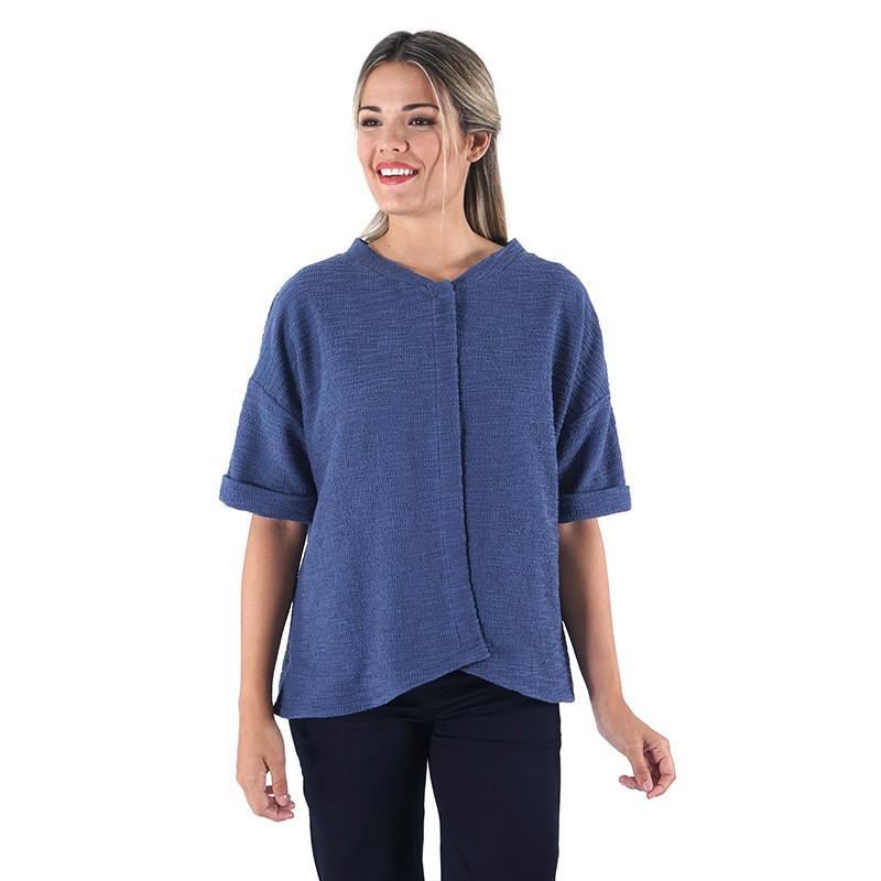 Chaqueta azul de algodón rústico Dona Kolors