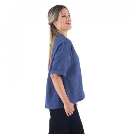 Chaqueta azul de manga corta Dona Kolors