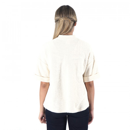 Raw short sleeve blazer