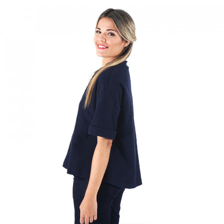 Blue navy rustic cotton jacket Dona Kolors
