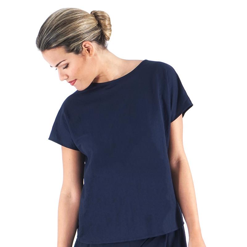 Blue navy knit shirt
