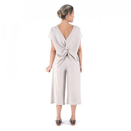 Beige knit top and palazzo pants Dona Kolors