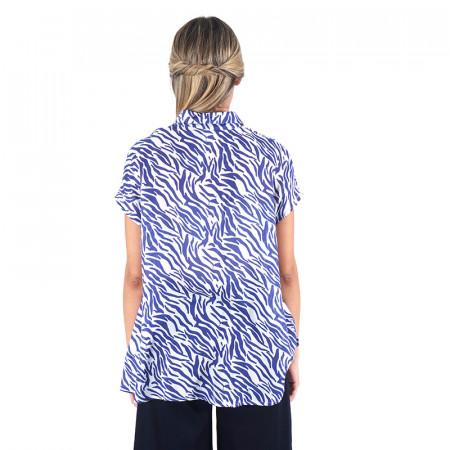 Brusa zebra blava 100% viscosa Dona Kolors