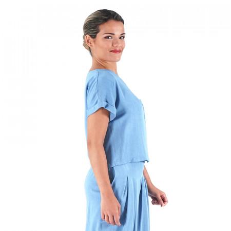Blusa cly azul claro