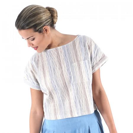 Blue striped blouse Castro