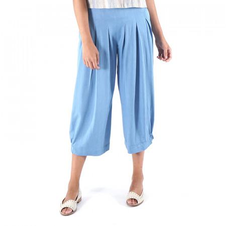 Pantaló corsari tencel blau clar