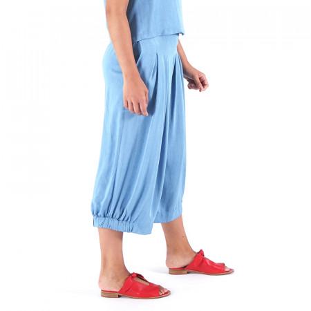 Pantalón corsario tencel azul claro Dona Kolors
