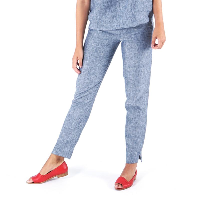 Pantalón de lino azul