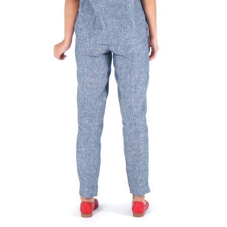 Pantalón de lino azul Dona Kolors