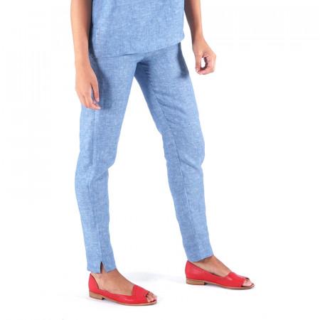Pantalón de lino índigo