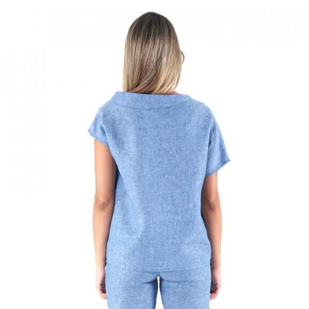 Blusa de lino índigo Dona Kolors