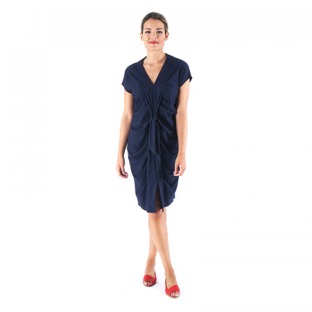 Blue navy knit dress Alma