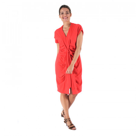 Red knit dress Alma
