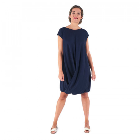 Blue navy knit dress Loreto
