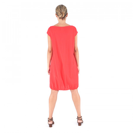 Vestido azul marino/rojo de punto
