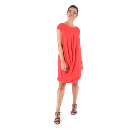 Red knit dress Loreto