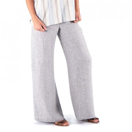 Pantalón de lino color piedra